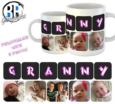 PHOTO GRANNY MUG Personalised Christmas Gift Best Granny Birthday Present Cup • 6.49£
