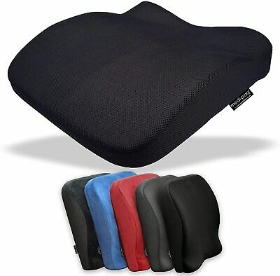 £18.89 • Buy Back Seat Cushion Memory Foam Car Office Chair Height Booster Lumbar Support UK