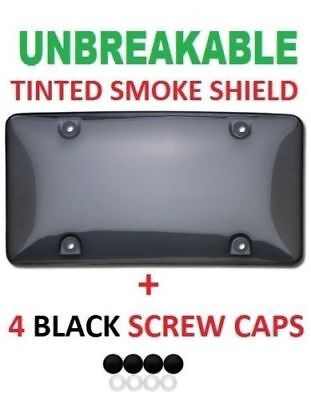 $4.95 • Buy Unbreakable Tinted Smoke License Plate Tag Holder Frame Bumper Shield Cover New