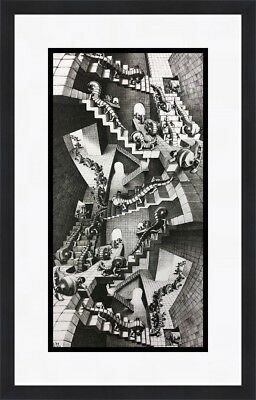 $65 • Buy M.C. Escher - House Of Stairs Custom Framed Print  FREE SHIPPING