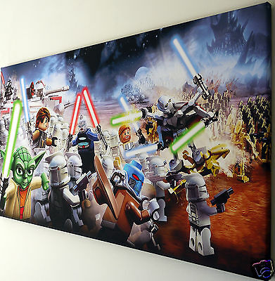 £20.99 • Buy Lego Star Wars Canvas Print Wall Art Picture  18 X 32 Inch