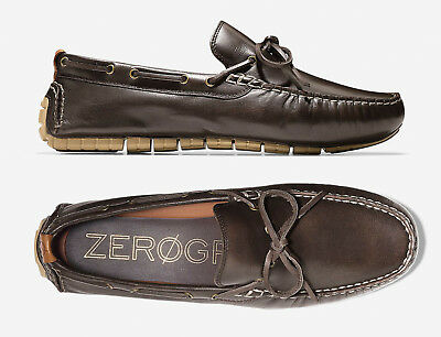 824a318ca04 Men Cole Haan Zerogrand Driver GrandOs Brown Leather Moccasins NEW • 101.97