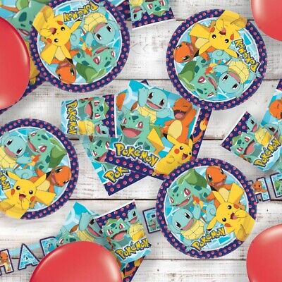 Pokemon Pikachu Party Tableware, Decorations And Balloons • 19.99£