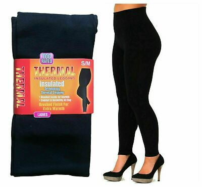 £4.49 • Buy Ladies Women Thermal Leggings Fleece Lined Winter Thick Black 2.3 Tog Rated S-xl