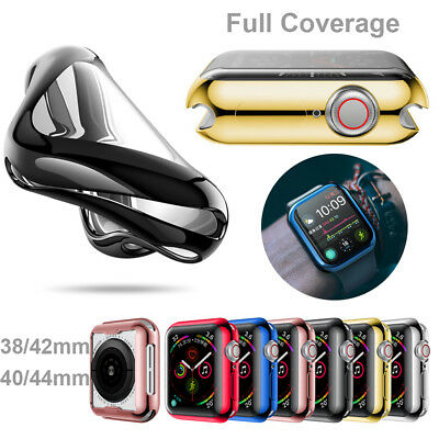 $ CDN1.06 • Buy Cover Watch TPU Case Full Coverage Screen Film For Apple Watch Series 4 3 2