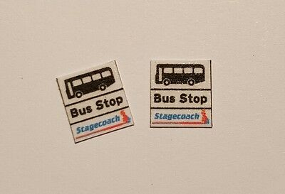 £3.50 • Buy 8 X OO Scale Bus Stop Flags - Stagecoach Group Stripes Era Logo