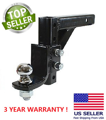 $37.99 • Buy 10  Adjustable Trailer Drop Hitch Ball Mount 2  Receiver With 2-5/16  Hitch Ball