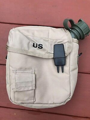 $ CDN27.67 • Buy 2 Qt Collapsilbe Water Canteen W/dessert Tan Pouch W/sling Us Army Military New