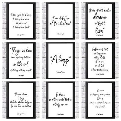 £2.99 • Buy Harry Potter Quote Typography Inspirational Print Poster A4 Childrens Bedroom