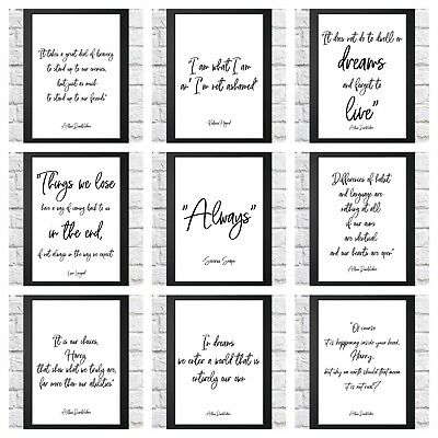 Harry Potter Quote Typography Inspirational Print Poster A4 Childrens Bedroom • 2.99£