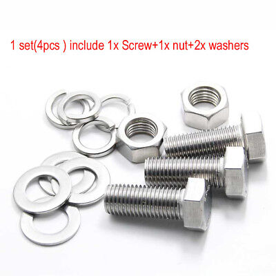 $5.82 • Buy M12 M14 M16 Stainless Steel Hexagon Head Screws Bolt Hex Nut Flat Spring Washers
