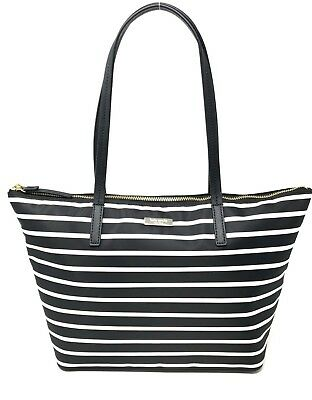 Kate Spade Lida May Street Black Stripe Nylon Handbag Tote Bag WKRU5750   249 • 98.80  9f2e7b7d0441b