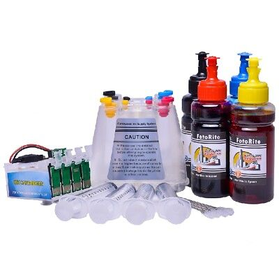 Non OEM Dye + Pigment Ink Ciss Continuous Ink System Fits Epson XP-352 XP-355 • 49.99£