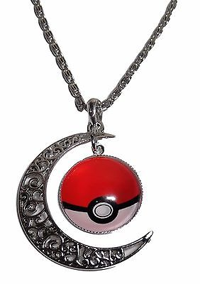 Pokemon Crescent Moon Glass Dome Charm Necklace With 20  Chain • 5.75£