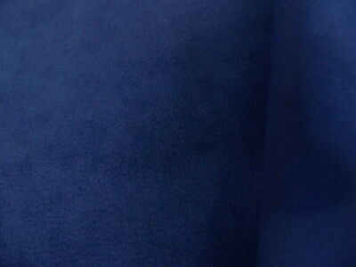 By The Yard Upholstery Suede Fabric Color Navy Blue W Backing Water Repellent