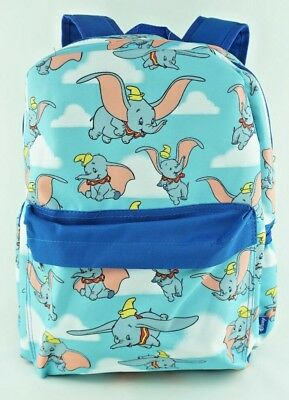 dd80db7408 Disney Dumbo Backpack Elephant Allover Print Large 16 Blue With Front  Pocket • 21.90