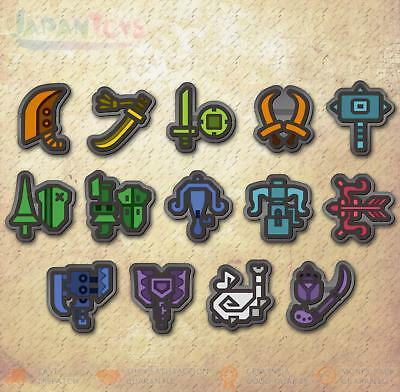 AU162.41 • Buy Capcom Monster Hunter World Weapon Icon Rubber Badge Collection 14 Pack