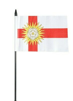 West Riding Of Yorkshire County Small Hand Waving Flag 6  X 4  • 2.49£