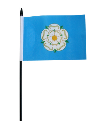 Yorkshire New County Small Hand Waving Flag 6  X 4  • 2.49£