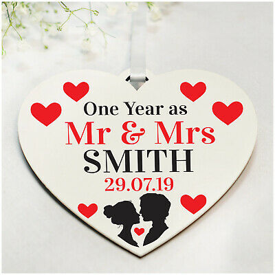 1st 10th 50th Wedding Anniversary Gifts PERSONALISED Husband Wife Couple Gifts • 4.99£