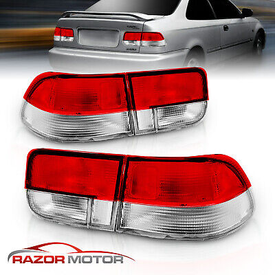 $69.59 • Buy For 1996 1997 1998 1999 2000 Honda Civic 2DR Coupe Factory Style Tail Lights Set