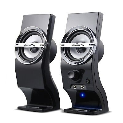 USB Speakers Computer PC Notebook Laptop Stereo 6W Headphone Input Clear Sound  • 12.41£