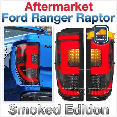 AU305.15 • Buy NEW Smoked LED Tail Rear Lamp Lights For Ford Ranger Raptor 2018 2019 F150 Tunez