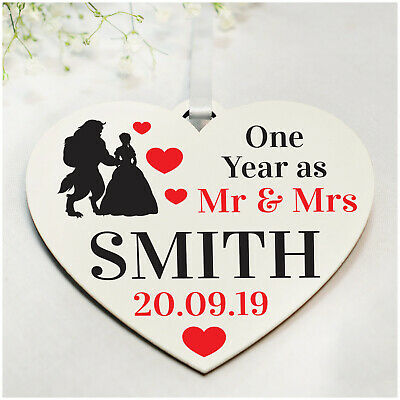PERSONALISED Fairytale Couple ANY Wedding Anniversary Gifts For Her Him Wife • 3.99£