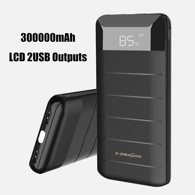 AU67.34 • Buy Portable 30,000 MAh External Power Bank Pack 2/3 USB Battery Charger For Phone