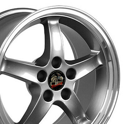 $140 • Buy 17  Rim Fits Ford Mustang Cobra R DD Gunmetal W/Mach'd Lip 17x9 Wheel