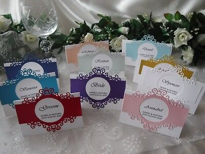 £4 • Buy Handcrafted Printed Place Name Cards Wedding/Anniversary/Birthday - Regal Range