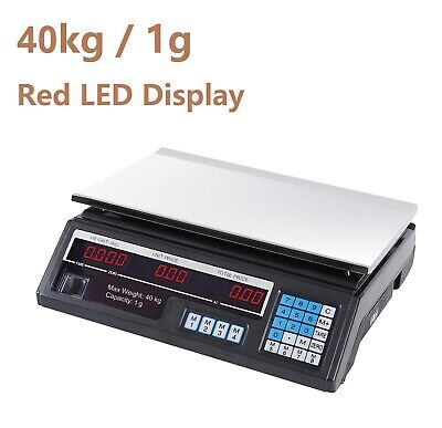 AU42.99 • Buy New Electronic Digital 5kg Kitchen Scale Commercial Shop 40KG Food Weight Scales