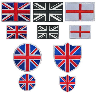 Union Jack And England Flag Iron On / Sew On Embroidered Patch Badge Transfer • 1.75£