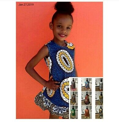Girl African Dress Child African Dress Girl Summer Dress Beach Dress Girl Kente • 14.99£