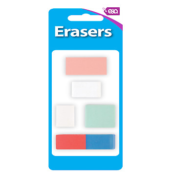 6x Quality White Soft Erasers Stationery Rubber School Office Pencil Paper  • 2.99£