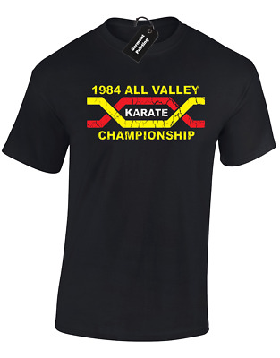 $9.52 • Buy 1984 All Valley Karate Mens T-shirt Karate Retro Miyagi Dojo (col)