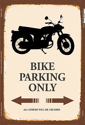 7e9a3178168adf Bike Motorcycle Motorrad Parking Only Blechschild Schild Tin Sign 20 X 30  Cm • 12.90€