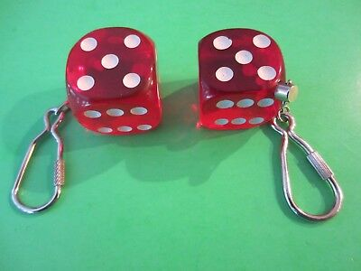 Dice Keychain Lot Of 2 - 1 Inch And 1 1/4 Inch Never Used • 6.95$