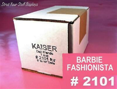 £18.39 • Buy 1 Doz Doll Stands  KAISER #2101 WHITE. Fits 12.75  Tall Dolls BARBIE FASHIONISTA