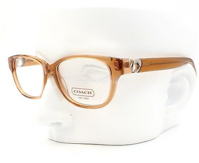 49529ee264 COACH HC 6038 5094 Amara Eyeglasses Frames Glasses Transparent Sand Beige ~  51mm • 48.00