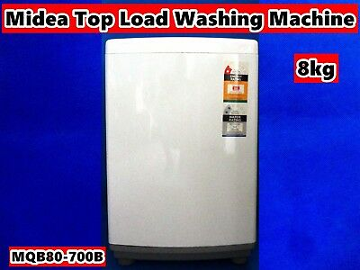 AU329 • Buy Midea Fully Automatic Top Load Washing Machine MQB80-700B 8kg White (Brand New)
