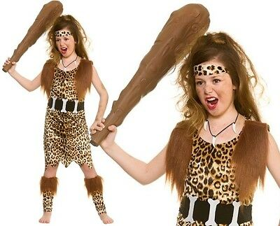 £16.50 • Buy Childs Stone Age Cave Girl Fancy Dress Costume Childrens Cavewoman Outfit W