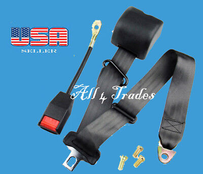 $19.49 • Buy 1 Car Seat Belt Lap 3 Point Safety Travel Adjustable Auto  Retractable