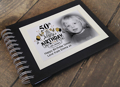Personalised Luxury Scrapbook Photo Album Guestbook 50th Birthday Present • 14.99£
