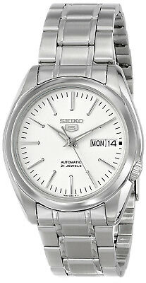 $ CDN161.61 • Buy Seiko 5 SNKL41 Automatic 21 Jewels White Dial Stainless Steel Men Watch SNKL41K1