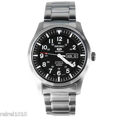 $ CDN219.77 • Buy Seiko 5 Sports SNZG13 Military Automatic Stainless Steel 23 Jewel Watch SNZG13K1