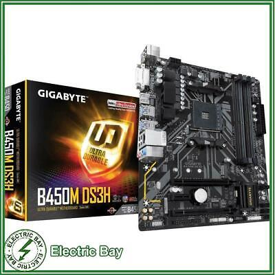 AU119 • Buy Gigabyte B450M DS3H AMD Ryzen AM4 MATX Motherboard DDR4 M.2 HDMI CrossFire RGB