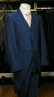 £162.24 • Buy New Royal Blue Slim Fit Wool Two Piece Tails Suit Castle Attire Wedding Tailcoat