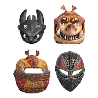 How To Train Your Dragon Cardboard Masks 8 Pack • 4.49£