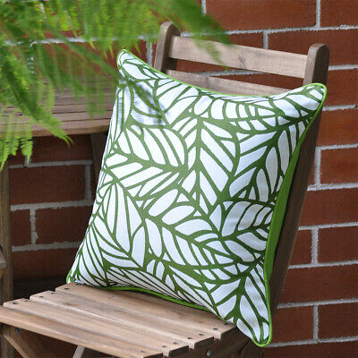 AU58.95 • Buy Tulum Palm Reverse Outdoor Cushion Cover With Piping Trim